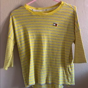 Tommy Hilfiger Striped Yellow Top